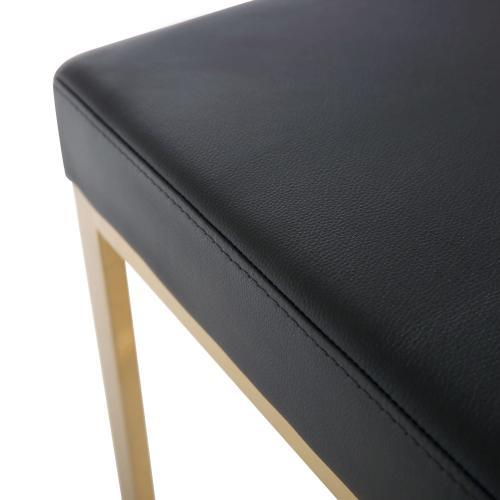 Ferra Black Gold Steel Barstool (Set of 2)