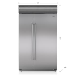 "Subzero48"" Classic Side-by-Side Refrigerator/Freezer with Internal Dispenser"