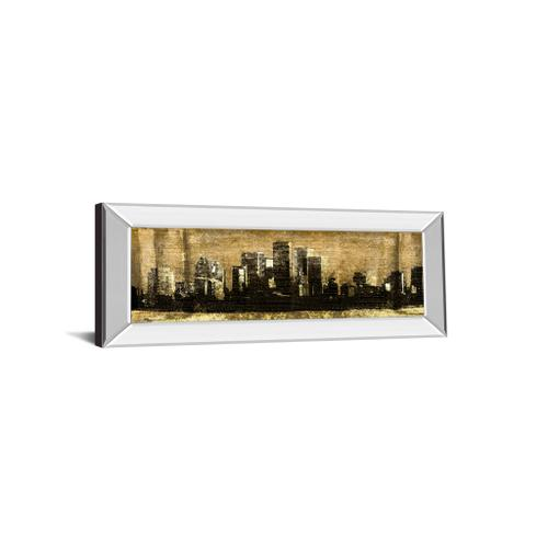 """Classy Art - """"Defined City Il"""" By Sd Graphic Studio Mirror Framed Print Wall Art"""