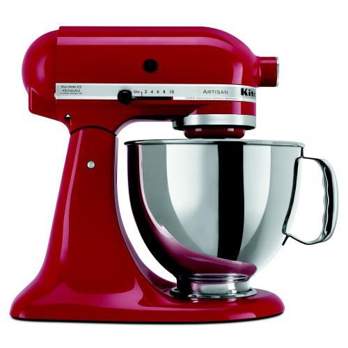KitchenAid - Value Bundle Artisan® Series 5 Quart Tilt-Head Stand Mixer with additional 3 Quart bowl - Empire Red