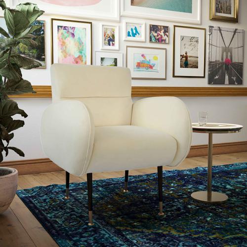 Tov Furniture - Babe Custard Velvet Chair