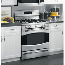 "PGB910SEMSS - GE Profile™ 30"" Free-Standing Self Clean Gas Range with Warming Drawer"