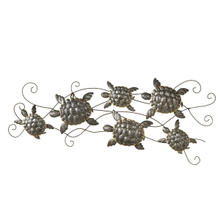 Galvanized Multi Turtle Wall Decor