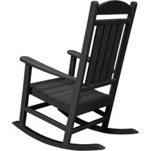 Hanover All-Weather Pineapple Cay Porch Rocker - Black, HVR100BL