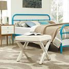 Rivet Bench in Ivory Product Image