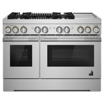 Jenn-AirJenn-Air RISE 48&quot Dual-Fuel Professional-Style Range with Chrome-Infused Griddle and Grill