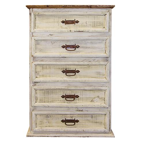 L.M.T. Rustic and Western Imports - White Wash Chest