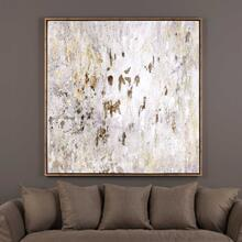 Golden Raindrops Hand Painted Canvas Wall Art