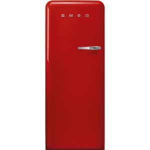 "Smeg24"" retro-style fridge, Red, Left-hand hinge"