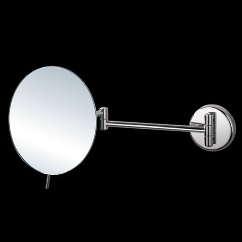 """Wall mount 3 x magnifying mirror, adjustable with dual arm Diam: 8"""", D: 14 3/4"""""""