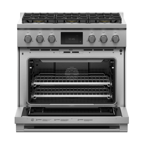 "Dual Fuel Range, 36"", 6 Burners, Self-cleaning, LPG"