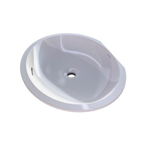 Kaali 65 Oval 25-1/4 Inch Undermount Lavatory Sink in Volcanic Limestone™ with Internal Overflow - Gloss White