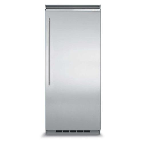"Marvel Professional Built-In 36"" All Freezer - Solid Stainless Steel Door - Left Hinge, Slim Designer Handle"