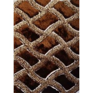 Designer Shag S.V.D. 75 Area Rug by Rug Factory Plus - 2' x 4' / Brown