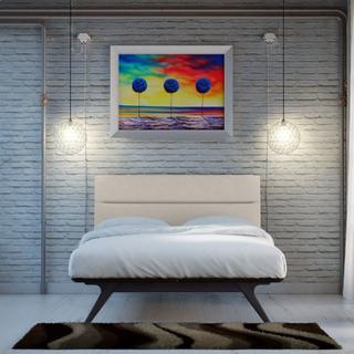 Addison King Bed in Black Beige