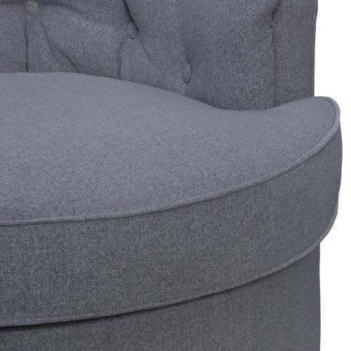 Priscille Fabric Swivel Accent Arm Chair, Brussel Dark Gray