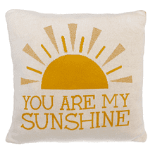 """You are My Sunshine"" Knit Pillow"