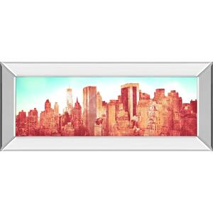"""N Y Love"" By Susan Bryant Mirror Framed Print Wall Art"