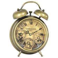 See Details - Aged Bronze and Brass Gears Table Clock