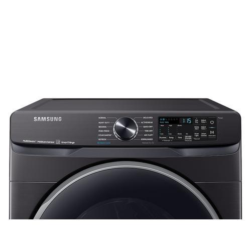 Samsung - 7.5 cu. ft. Smart Gas Dryer with Steam Sanitize+ in Brushed Black