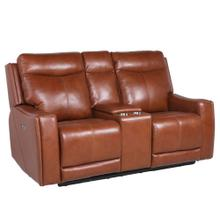Natalia Dual-Power Reclining Console Loveseat, Coach