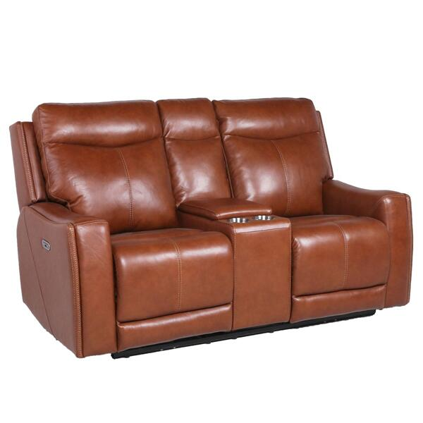 Laurel Dual-Power Reclining Console Loveseat, Coach