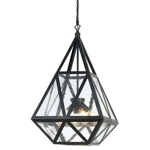 60W X 4 Townsendglass Chandelier (Edison Bulbs Not included)