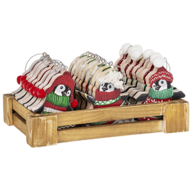 Dressed to Chill Penguins Ornaments in a Crate (24 pc. ppk.)