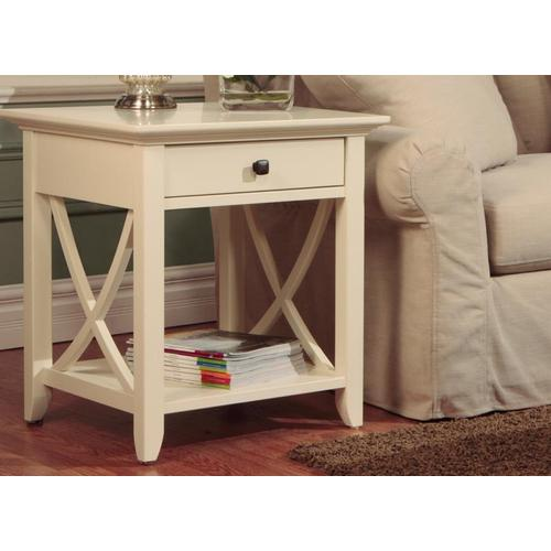 - Florence End Table With Drawer and Shelf