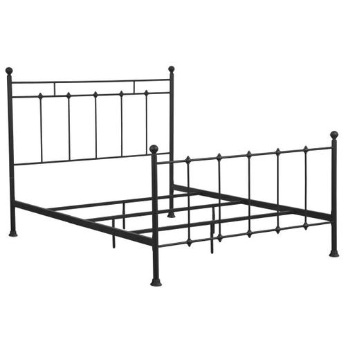 Shaker Style King Metal Bed in Black
