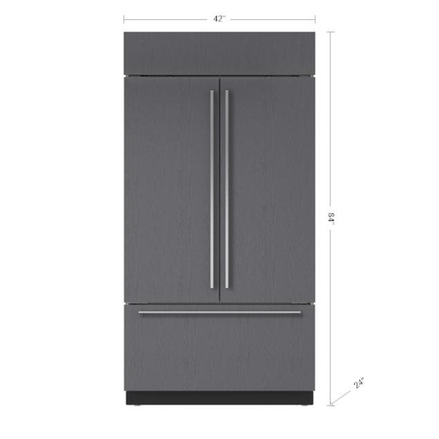 "Subzero 42"" Classic French Door Refrigerator/Freezer - Panel Ready"
