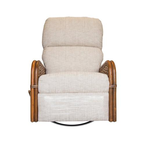 Swivel Recliner Glider, Recliner Arms Available in Royal Oak or Grey Wash Finish.