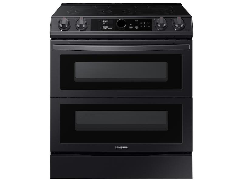 Samsung6.3 Cu Ft. Smart Slide-In Electric Range With Smart Dial, Air Fry, & Flex Duo™ In Black Stainless Steel