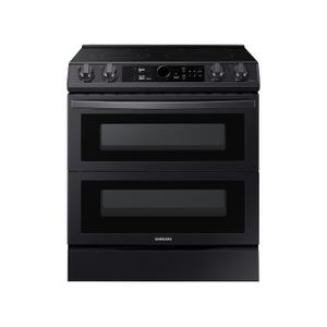 Samsung Appliances6.3 cu. ft. Flex Duo™ Front Control Slide-in Electric Range with Smart Dial, Air Fry & Wi-Fi in Black Stainless Steel