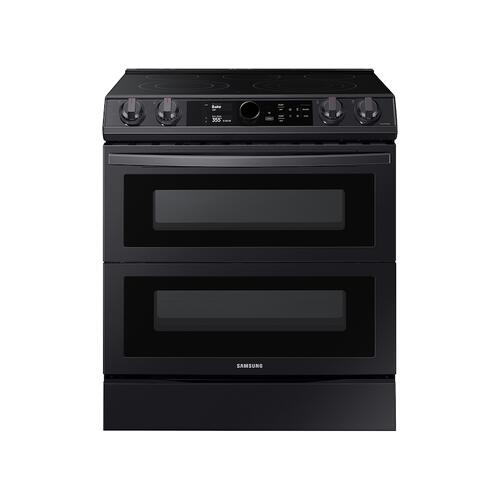6.3 cu ft. Smart Slide-in Electric Range with Smart Dial, Air Fry, & Flex Duo™ in Black Stainless Steel