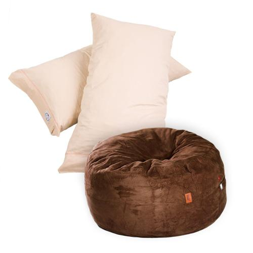 Pillow Pod Footstools - Plush Microsuede - Chocolate