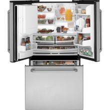 GE Cafe Series ENERGY STAR® 25.1 Cu. Ft. French-Door Bottom-Freezer Refrigerator (This is a Stock Photo, actual unit (s) appearance may contain cosmetic blemishes. Please call store if you would like actual pictures). This unit carries our 6 month warranty, MANUFACTURER WARRANTY and REBATE NOT VALID with this item. ISI 37535 B