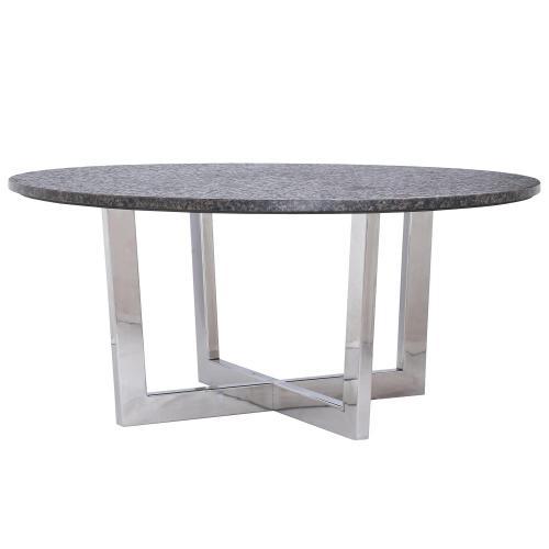 Round Coffee Table Base - Polished Chrome Finish