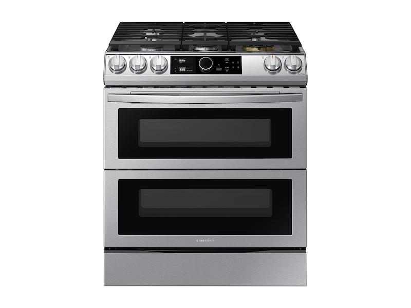 Samsung6.0 Cu Ft. Smart Slide-In Gas Range With Flex Duo™, Smart Dial & Air Fry In Stainless Steel