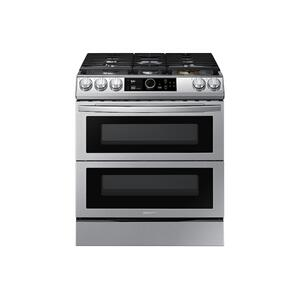 Samsung Appliances6.0 cu. ft. Flex Duo™ Front Control Slide-in Gas Range with Smart Dial, Air Fry & Wi-Fi in Stainless Steel