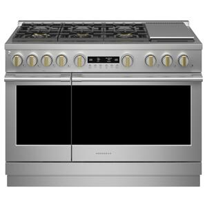 """MONOGRAMMonogram 48"""" All Gas Professional Range with 6 Burners and Griddle (Natural Gas)"""