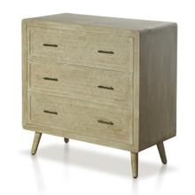 DANKO CHEST  34in w. X 34in ht. X 16in d.  Three Drawer Chest in Paulonia Veneer and Wood Solids w