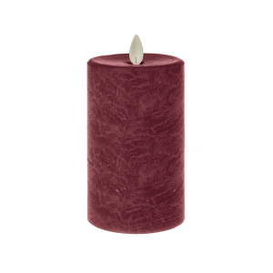 LED Textured Wax Pillar Candle
