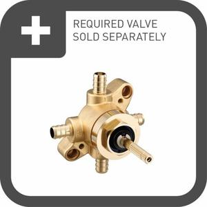 Belfield brushed nickel m-core transfer m-core transfer valve trim
