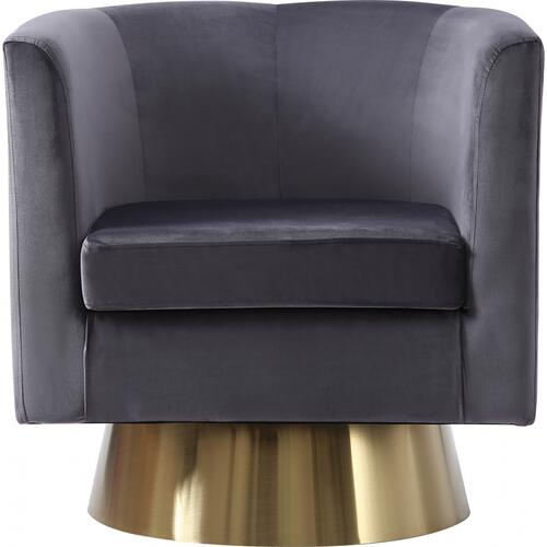 "Bellagio Velvet Swivel Accent Chair - 30"" W x 30"" D x 31"" H"