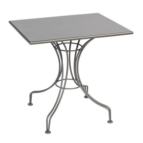 "Woodard Furniture - Solid Iron 24"" x 30"" Rectangular Bistro Table with Universal Base"