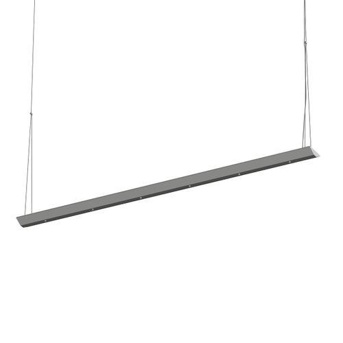 "Sonneman - A Way of Light - Votives LED Bar Pendant [Size=4', Color/Finish=Bright Satin Aluminum, Shade Size=.25"" height x 2.25"" diameter]"