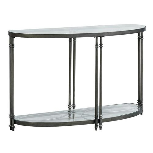 Terrazza Metal Sofa Table, Burnished Metal
