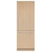 "Integrated Refrigerator Freezer, 30"", Ice & Water"