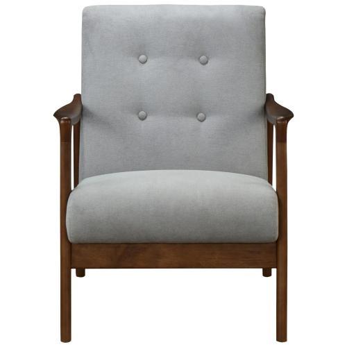 Product Image - Nicholas KD Accent Arm Chair Dark Walnut Frame, Studio Gray